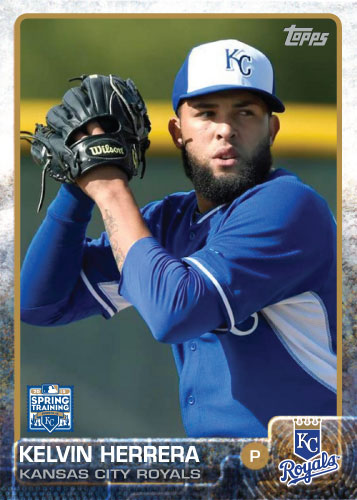 2015 Kansas City Royals Spring Training set - Kelvin Herrera custom card