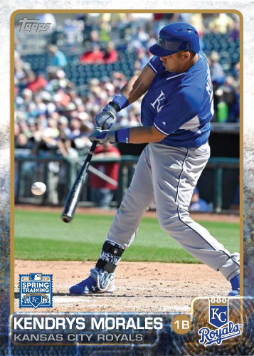 2015 Kansas City Royals Spring Training set - Kendrys Morales custom card