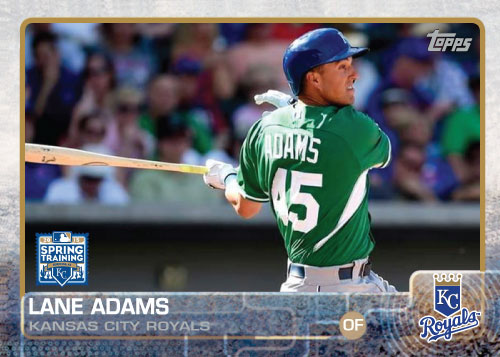 2015 Kansas City Royals Spring Training set - Lane Adams