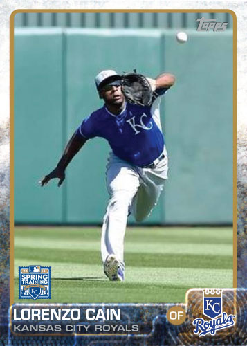 2015 Kansas City Royals Spring Training set - Lorenzo Cain