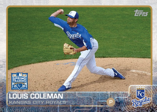2015 Kansas City Royals Spring Training Set - Louis Coleman