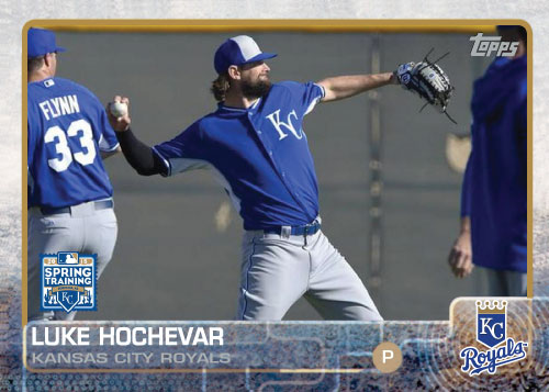 2015 Kansas City Royals Spring Training set - Luke Hochevar custom card