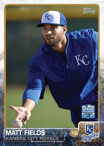Matt Fields 2015 Kansas City Royals spring training custom card