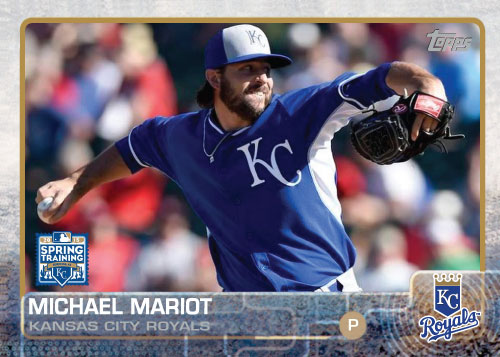 2015 Kansas City Royals Spring Training set - Michael Mariot custom card