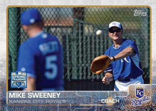Mike Sweeney 2015 Kansas City Royals spring training custom card