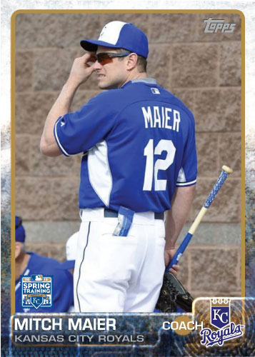 Mitch Maier 2015 Kansas City Royals spring training custom card