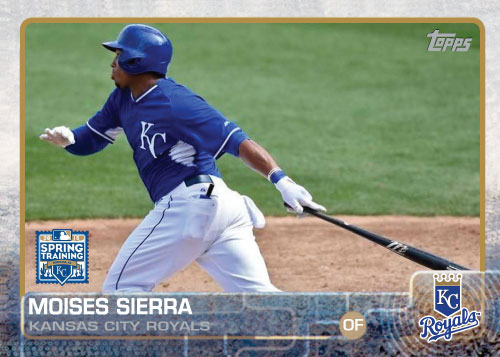 2015 Kansas City Royals Spring Training set - Moises Sierra