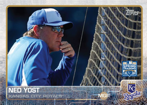 Ned Yost 2015 Kansas City Royals spring training custom card