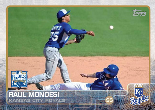 Raul Mondesi 2015 Kansas City Royals spring training custom card