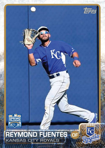 2015 Kansas City Royals Spring Training set - Reymond Fuentes custom card