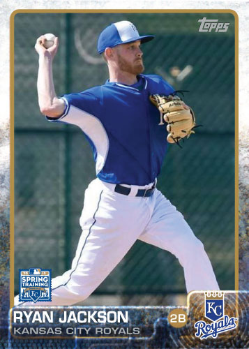 Ryan Jackson 2015 Kansas City Royals spring training custom card