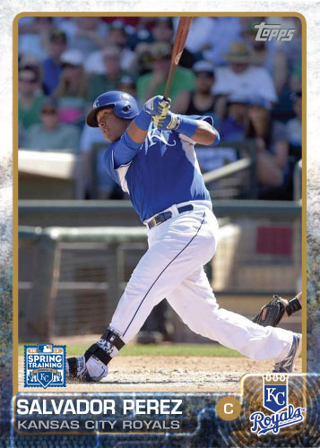 2015 Kansas City Royals Spring Training set - Salvador Perez custom card