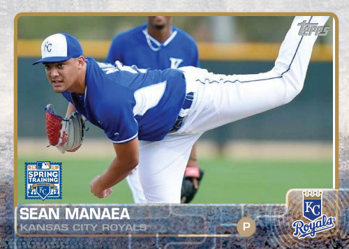 2015 Kansas City Royals Spring Training set - Sean Manaea