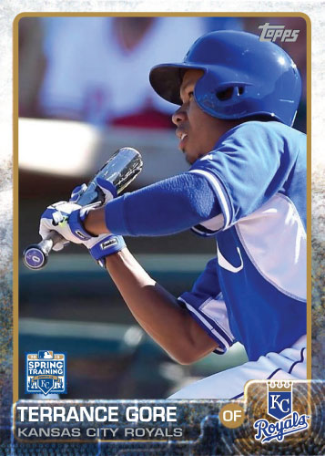 2015 Kansas City Royals Spring Training set - Terrance Gore custom card
