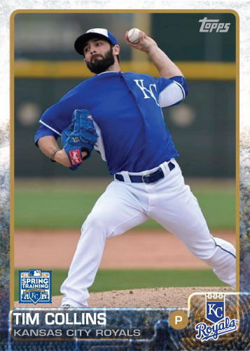 Tim Collins 2015 Kansas City Royals spring training custom card