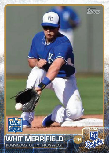 2015 Kansas City Royals Spring Training set - Whit Merrifield custom card