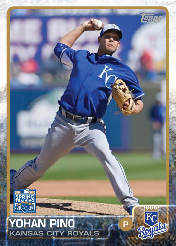 2015 Kansas City Royals Spring Training set - Yohan Pino custom card