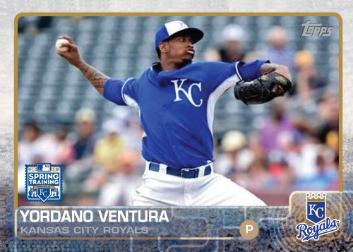 2015 Kansas City Royals Spring Training set - Yordano Ventura custom card