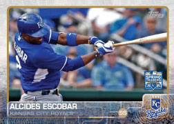 2015 Kansas City Royals Spring Training Set alternate -Alcides Escobar