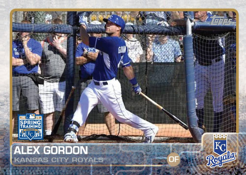 2015 Kansas City Royals Spring Training Set alternate - Alex Gordon