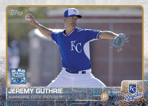 2015 Kansas City Royals Spring Training Set alternate - Jeremy Guthrie