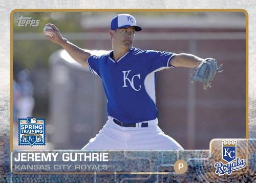 2015 Kansas City Royals Spring Training Set alternate - Jeremy Guthrie