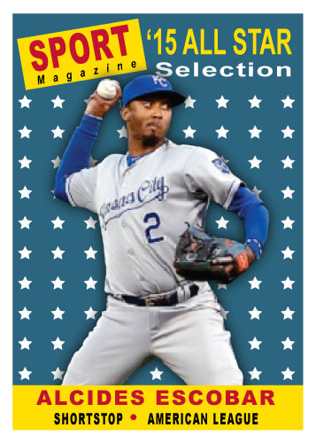 2015 All-Star Alcides Escobar custom card