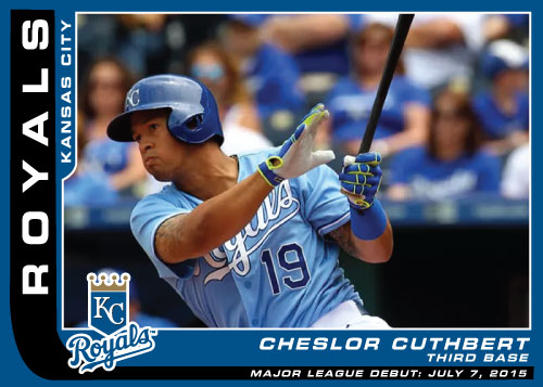MLB Debut Custom Card Cheslor Cuthbert