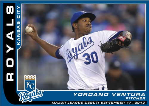 Yordano Ventura MLB Debut custom card