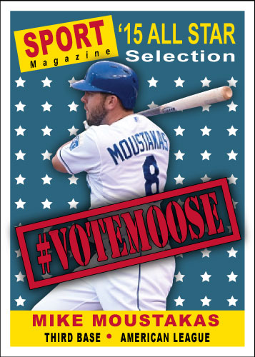2015 All-Star Vote Mike Moustakas custom card