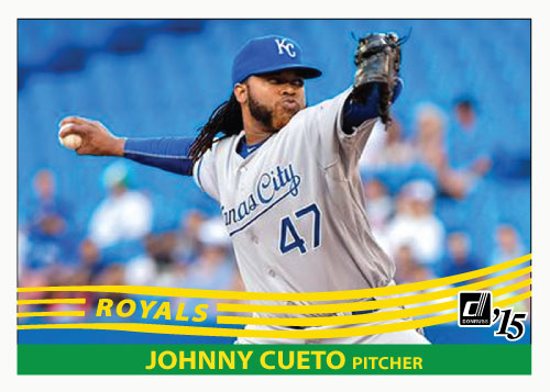 Johnny Cueto 2015 Royals custom card