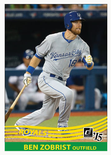 Ben Zobrist 2015 Royals custom card