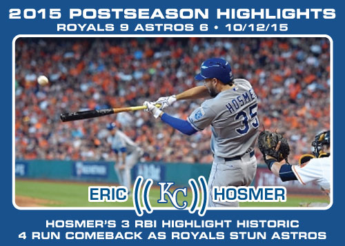 Eric Hosmer 2015 Royals postseason highlight card.