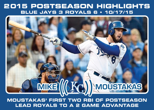 Mike Moustakas 2015 Royals postseason highlight card.