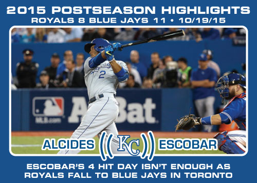 Alcides Escobar 2015 Royals postseason highlight card.