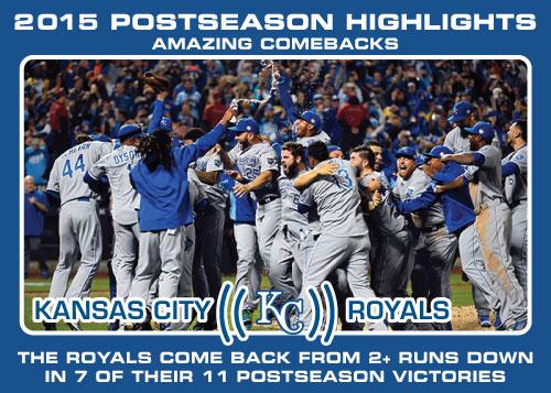 Kansas City Royals comeback victories Royals postseason highlight card.