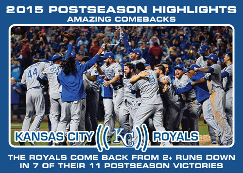 Kansas City Royals comeback victories Royals postseason highlight card.