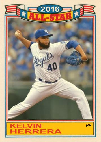 Kelvin Herrera 2016 All-Star Royals custom card