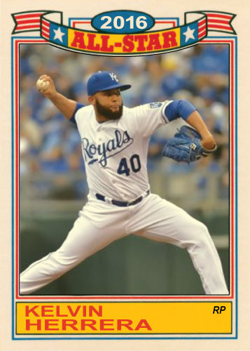 Kelvin Herrera 2016 All-Star Royals custom card