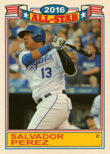 Salvador Perez 2016 All-Star Royals custom card