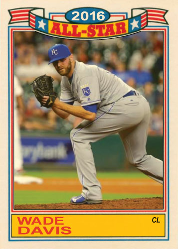 Wade Davis 2016 All-Star Royals custom card