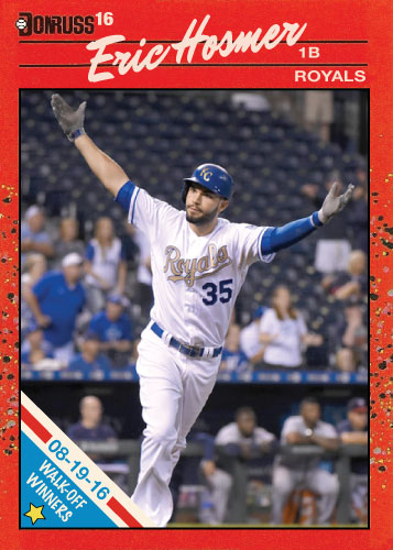 Eric Hosmer Royals Walk-Off winners custom card