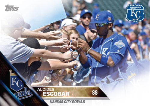 Alcides Escobar 2016 Spring Training Kansas City Royals custom card