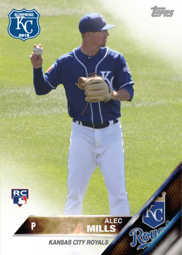 Alec Mills 2016 Spring Training Kansas City Royals custom card
