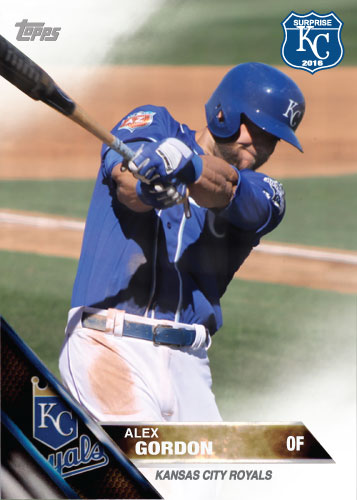 Alex Gordon 2016 Spring Training Kansas City Royals custom card