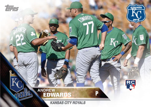 Andrew Edwards 2016 Spring Training Kansas City Royals custom card