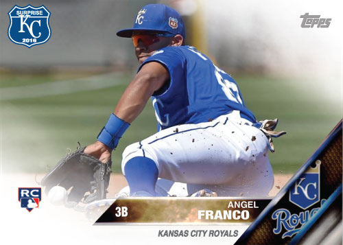 Angel Franco 2016 Spring Training Kansas City Royals custom card