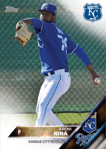 Aroni Nina 2016 Spring Training Kansas City Royals custom card