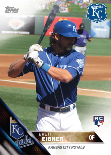 Brett Eibner 2016 Spring Training Kansas City Royals custom card