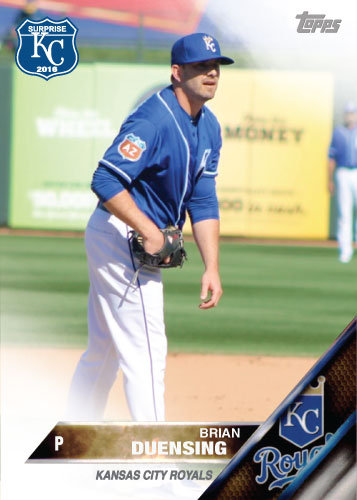 Brian Duensing 2016 Spring Training Kansas City Royals custom card